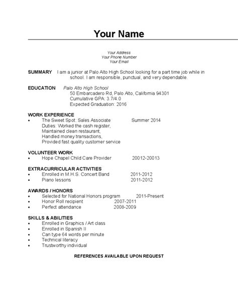 blank high school student resume templates no work experience blank student resume template blank high school student