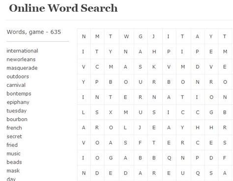 Free Search On Line 5 Free Websites To Play Word Search