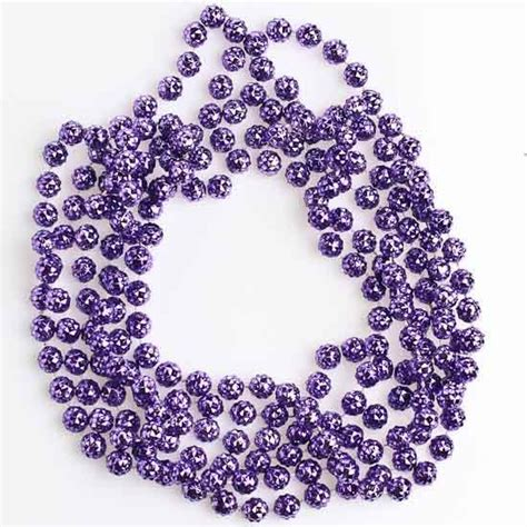 metallic purple faceted bead garland christmas garlands