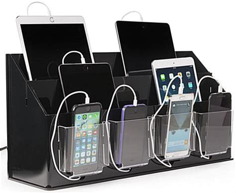 multi device charging station with modern multi device charging multi device charging station organizer black clear