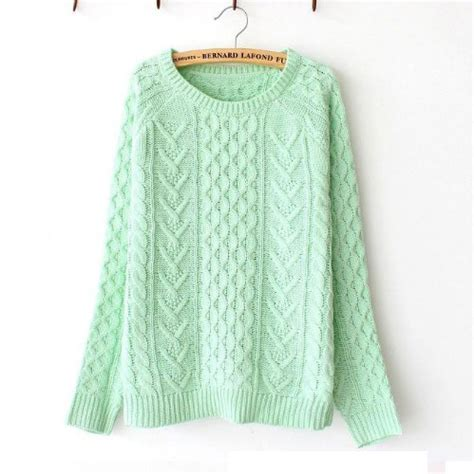 mint green knit sweater mint green knitted sweater nfjt0072 on luulla