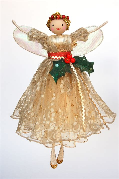 vintage holly tree top fairy halinka s fairies