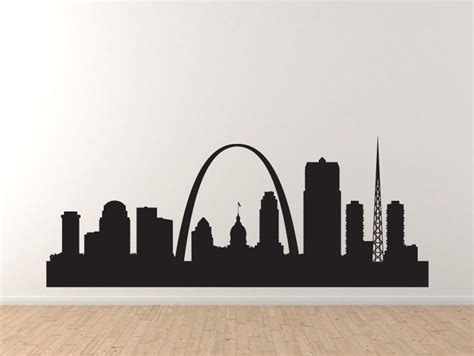 Super Hero Wall Stickers american city skyline st saint louis arch silhouette