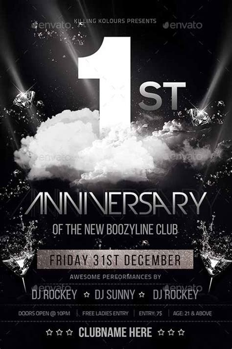 anniversary poster template best of anniversary flyer templates free and premium