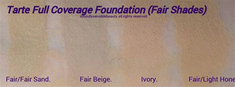tarte fair light neutral tarte full coverage foundation spf 15 review swatches