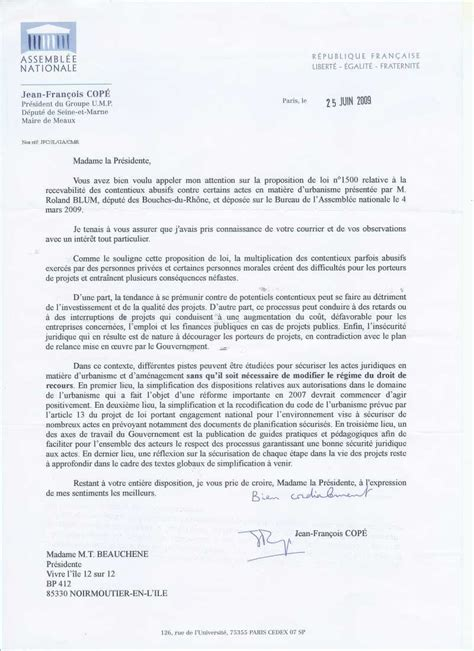 Exemple Lettre Recours Refus De Visa modele lettre recours administratif permis de construire