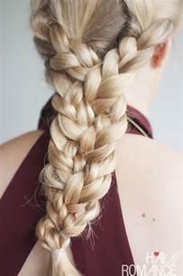 plait hairstyles for hair the triple braid hairstyle tutorial hair romance