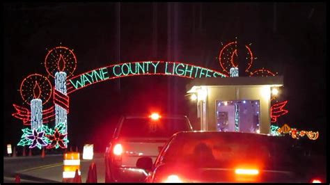 wayne county light fest hines park youtube