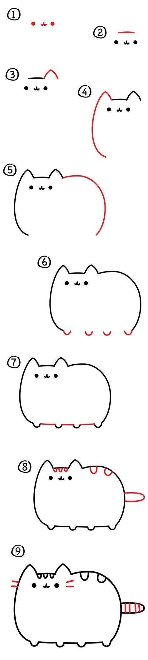 how to make easy doodle how to draw the pusheen cat for hub pusheen