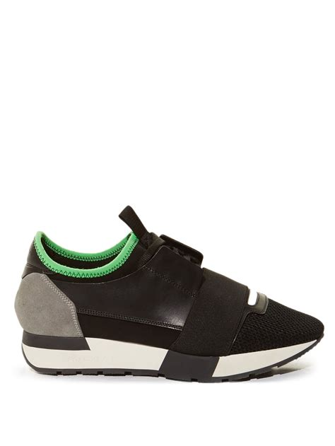 balenciaga race runner low top trainers in black black multi lyst