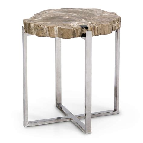 steel accent table natural artistry accent table with stainless steel legs