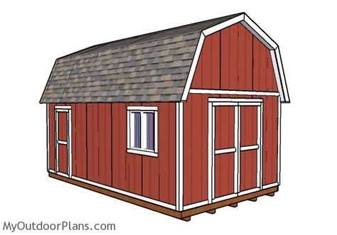 12x20 gambrel shed plans myoutdoorplans free woodworking plans and projects diy shed