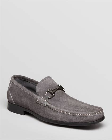 grey suede loafers ferragamo magnifico suede driving loafers in gray for