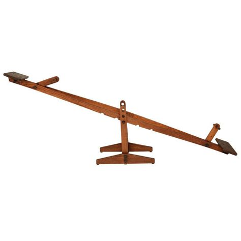 Home Vintage Decor by Wood Teeter Totter