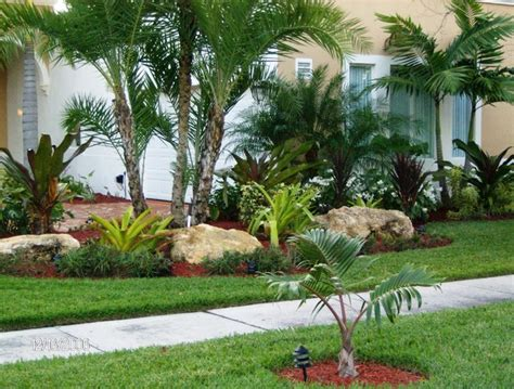 Tropical Backyard Landscaping Ideas Tropical Front Yard Landscaping Ideas With Palm Trees This For All