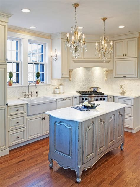 White Kitchen Island by Kitchen Wonderful Design Of Distressed White Kitchen