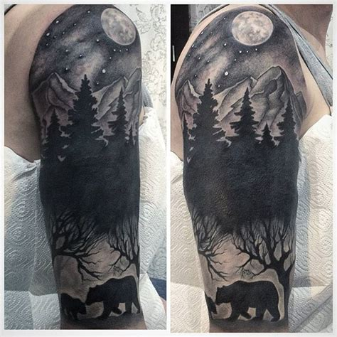quarter sleeve forest tattoo работа альбины кручининой blondie tattoo blondie tattoo