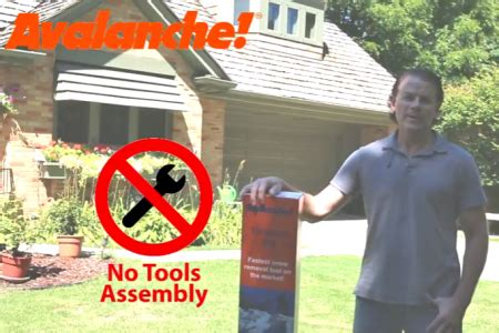 no tools assembly avalanche roof rake snow removal systems manufacturer