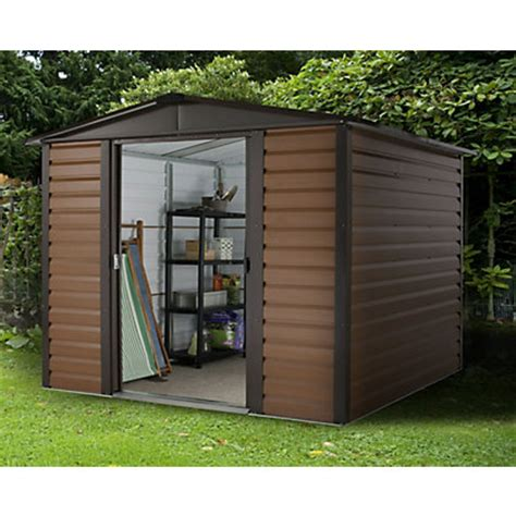 Small Metal Sheds Uk by Garden Sheds Metal Plastic And Wooden Sheds At Homebase