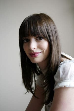 the hairstyle of the devil anne hathaway 12 sexiest celebrity bangs beauty