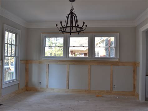 dining room wil have wainscoting and plate rail vision