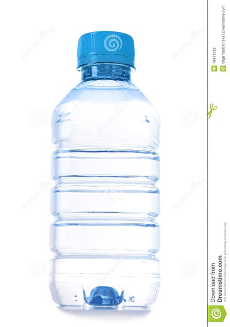small bottle of water isolated stock photos image 19471393