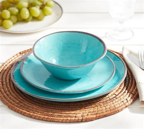 pottery barn china swirl melamine dinnerware turquoise pottery barn au