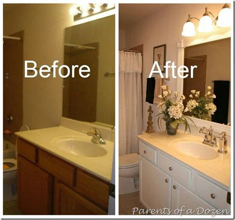 painting bathroom cabinets ideas updating builder grade cabinets bathrooms pinterest