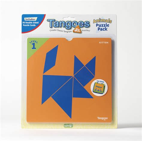 printable tangoes puzzle cards tangoes jr puzzle pack animals puzzlewarehouse com