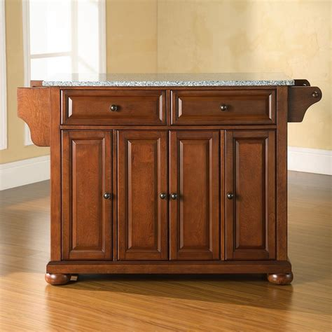 crosley kitchen island shop crosley furniture brown craftsman kitchen island at