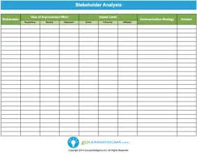 Stakeholder List Template Stakeholder Analysis Template Amp Example