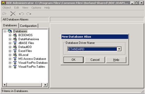 membuat database tanpa xp membuat koneksi ke database melalui bde belajar tanpa buku