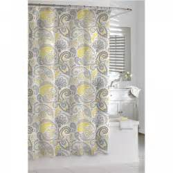 Shower Curtains Yellow And Gray Black Gray White Contemporary Beat Fabric Shower Curtain
