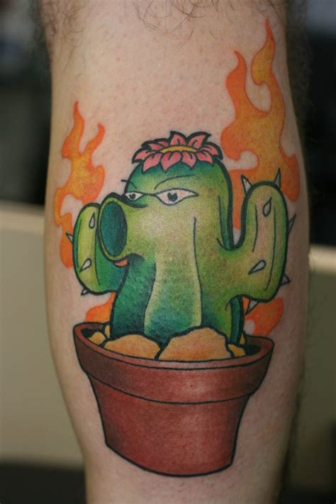 tattoo extreme plantas vs zombies these mobile phone game tattoos are next level candy