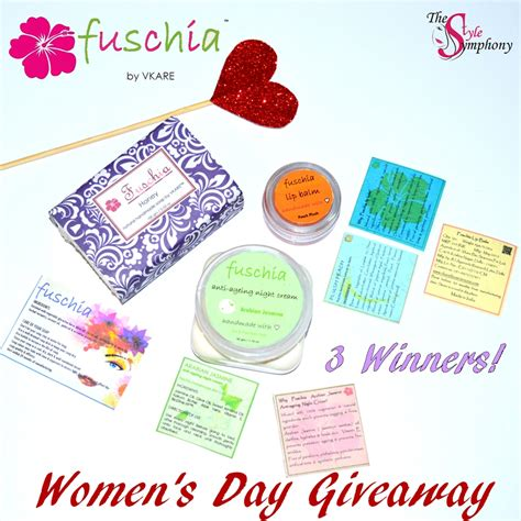 Womans Day Giveaway - fushcia by vkare women s day giveaway