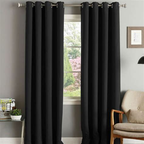 Blackout Door Curtains Linens Limited Thermal Blackout Eyelet Door Curtain 66 X 84 Inch Ebay