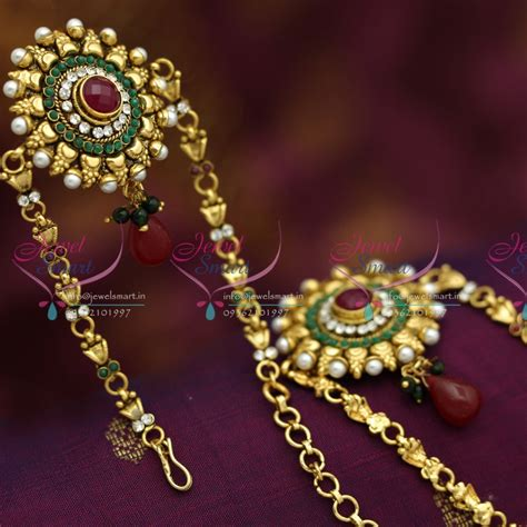 v6197 antique gold plated handmade low price vanki baju