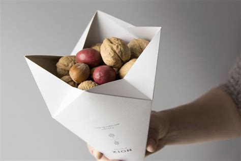 Origami Packaging - origami snack packaging gautier s winter nuts