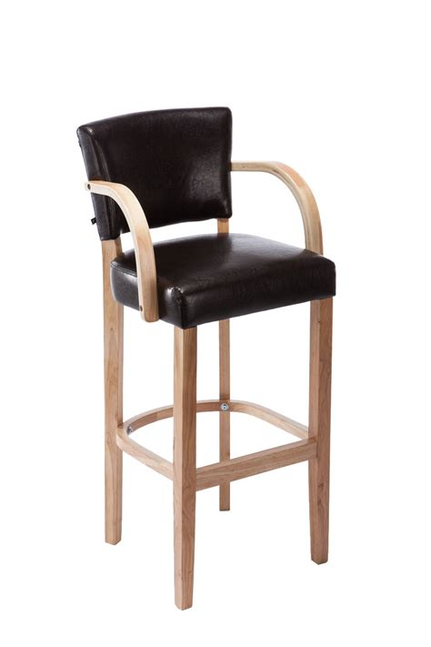 rubber for kitchen stools bar stool lionel with armrests rubber wood modern barstool
