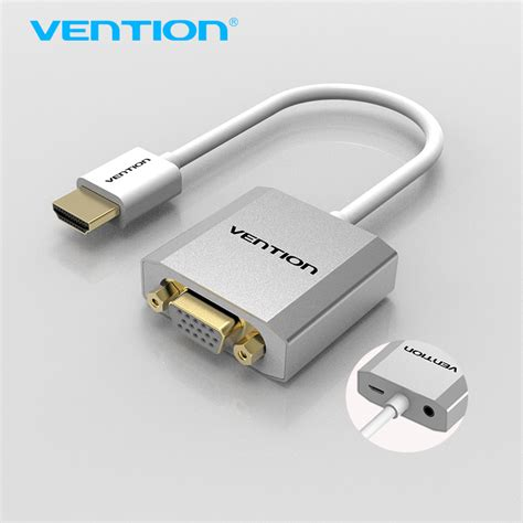 Connector Usb To Vga vention hdmi to vga adapter converter cable with micro usb