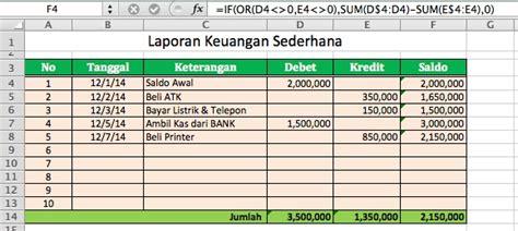 cara membuat laporan keuangan sederhana rumah kreatif film cara membuat laporan keuangan