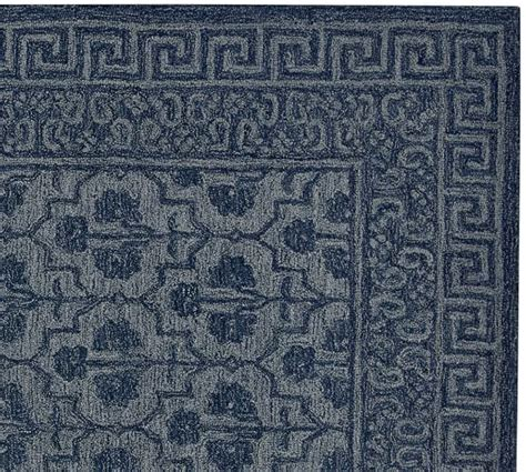 Pottery Barn Wool Rugs Braylin Tufted Wool Rug Blue Pottery Barn