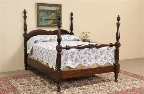 full size poster bed poster bed 1920 antique carved mahogany full size