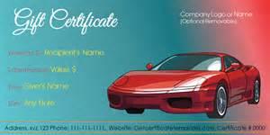 automotive gift certificate template car deal gift certificate template get certificate templates