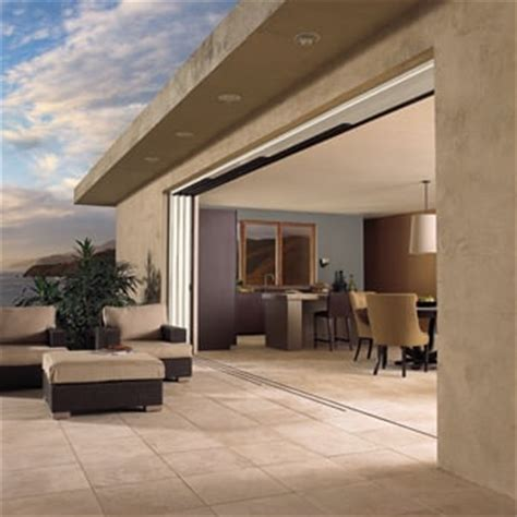 Valley Sash And Door by Multislide Exterior Pocket Door In The Open Position