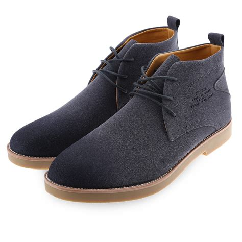 mens suede casual lace up fashion boots ankle desert