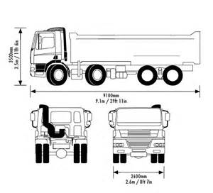 Truck Wheels Dimensions 8 Wheel Tipper Dimensions Crafts