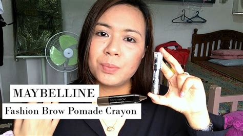Maybelline Fashion Brow Pomade Crayon Eyebrow Pensil Alis maybelline fashion brow pomade crayon impression