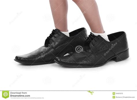shoes for with big in big black shoes stock photos image 34431073