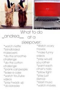 things to do at a sleepover friendship